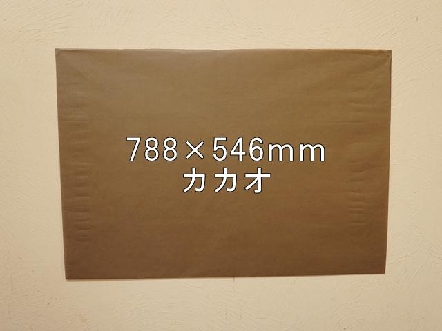 【1120-30】【特大Bサイズ】ローズウィンドウペーパー/単色5枚入/788×546mm/カカオ