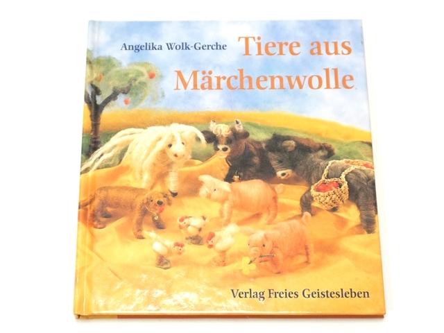【1153】Tiere aus Marchenwolle/羊毛の手作り本/おとぎ話のウールの動物