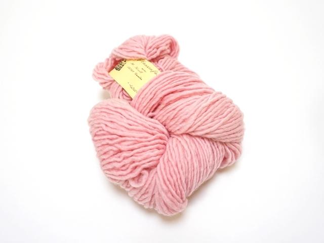 草木染め毛糸単撚りローズ541