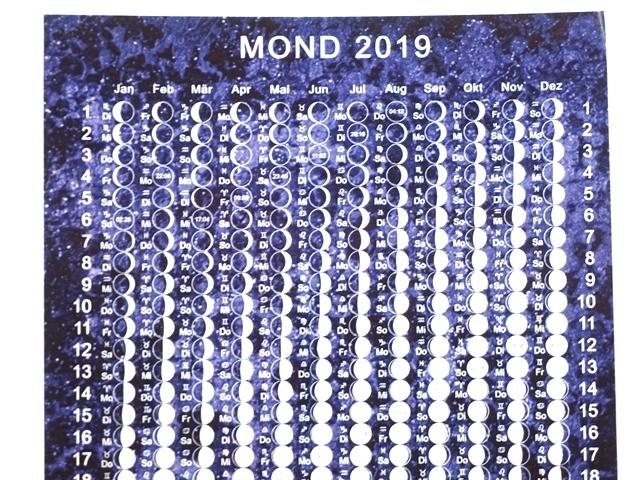 月のカレンダーポストカード2019年版・アップ1