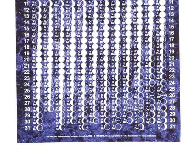 月のカレンダーポストカード2019年版・アップ2