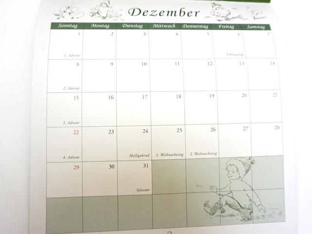 ベスコフカレンダー2019年版9