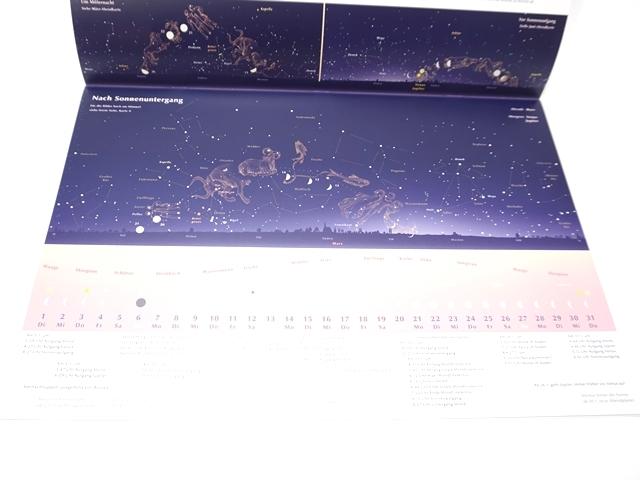 星座のカレンダー2019年版6