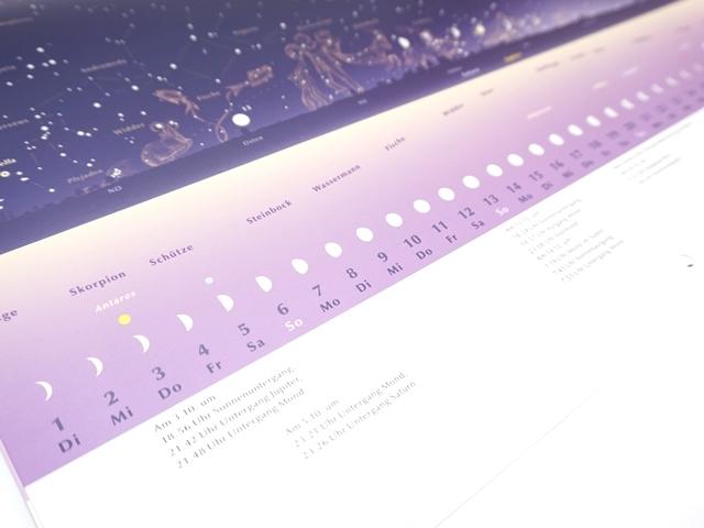 星座のカレンダー2019年版9