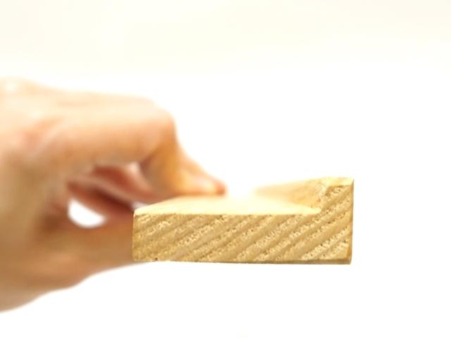 ライアスタンド水月・楽譜縦として使うときの板の断面