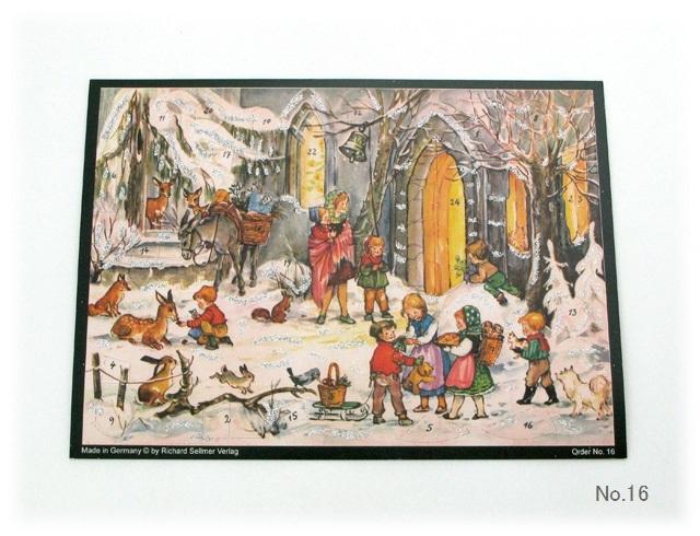 【929】リヒャルトセルマー/アドヴェントカレンダーno.16(A4横)/アドベントカレンダー