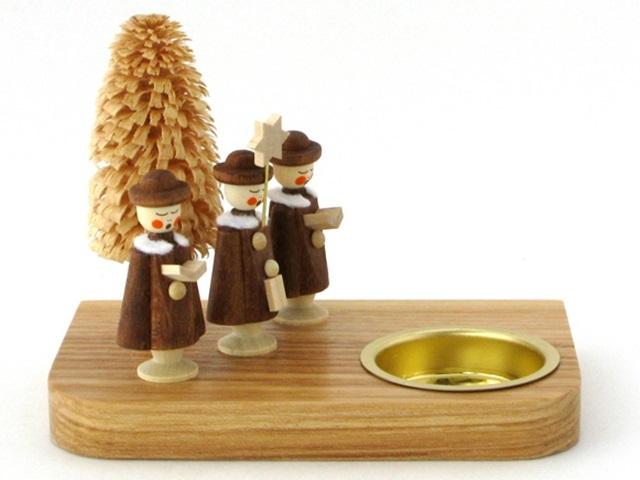 【836-B】Albin Preisslerアルビンプライスラー/ティーライトスタンド・3人の修道士と木