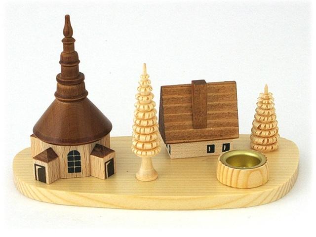 【835-A】Albin Preisslerアルビンプライスラー/建物のロウソク立て・教会とお家
