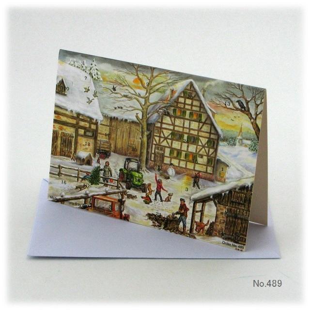 【931】リヒャルトセルマー/アドヴェントカレンダーno.489(二折・封筒入)/リチャードセルマー/アドベントカレンダー