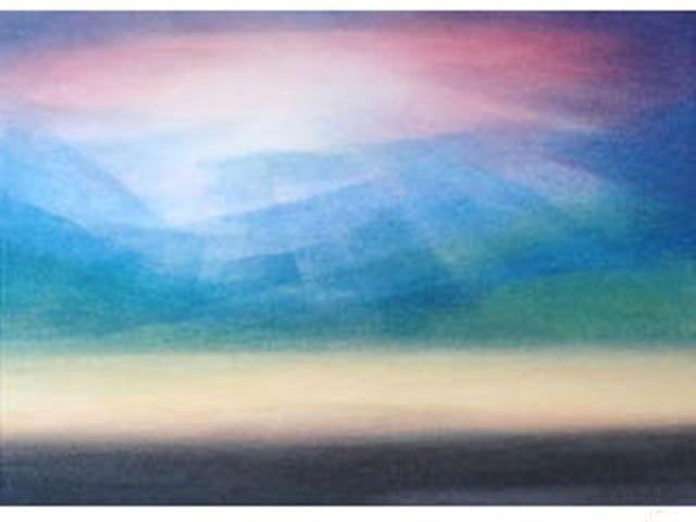 【460-2】アレキサンダー・ヴィンター/絵のギャラリー<山の光/水彩>
