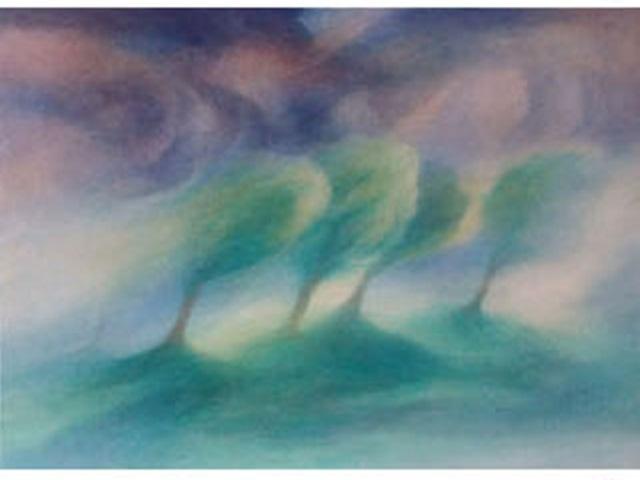 【460-9】アレキサンダー・ヴィンター/絵のギャラリー<嵐の中の木 >