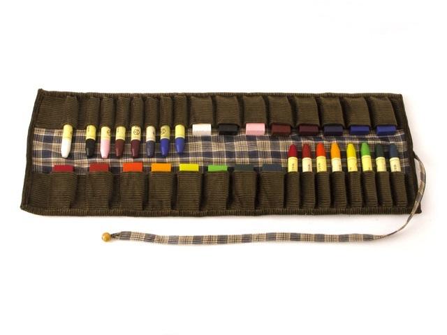 シュトックマー/布製ケース+みつろうクレヨン・ブロック、スティック各16色セット
