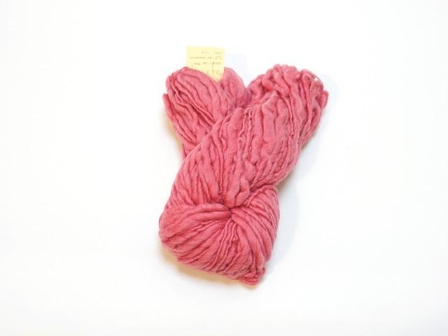 草木染毛糸ホームスパン(100g巻き)ベリーレッド/製造中止/在庫限り