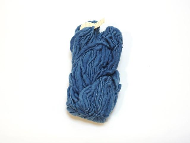 【129-A9】草木染毛糸ホームスパン(100g巻き)ブルー/製造中止/在庫限り