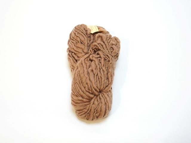 【129-A7】草木染毛糸ホームスパン(100g巻き)ブラウン/製造中止/在庫限り