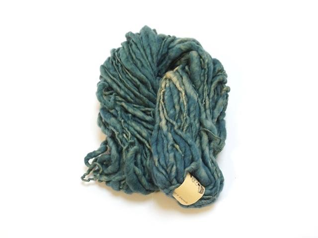 【129-A6】草木染毛糸ホームスパン(100g巻き)グラスグリーン/製造中止/在庫限り
