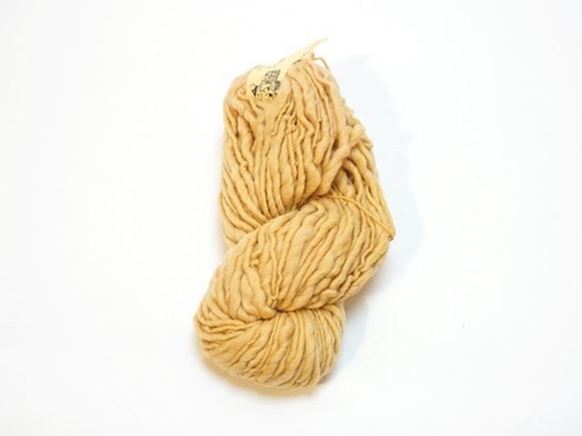 【129-A8】草木染毛糸ホームスパン(100g巻き)ゴールデンイエロー/製造中止/在庫限り