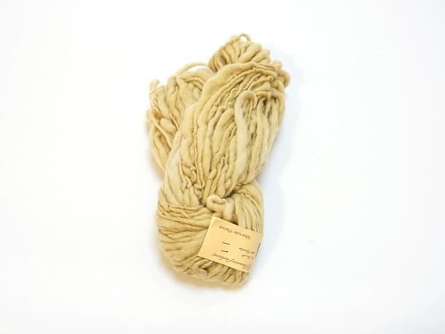 【129-A4】草木染毛糸ホームスパン(100g巻き)ライトイエロー/製造中止/在庫限り