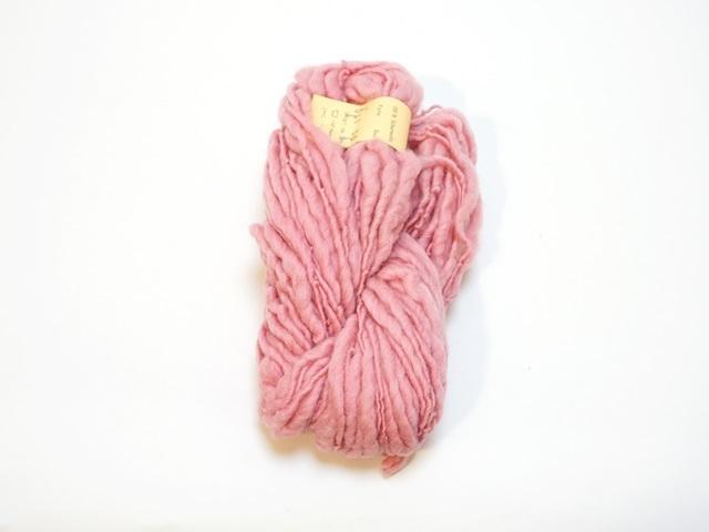 【129-A3】草木染毛糸ホームスパン(100g巻き)ローズ/製造中止/在庫限り