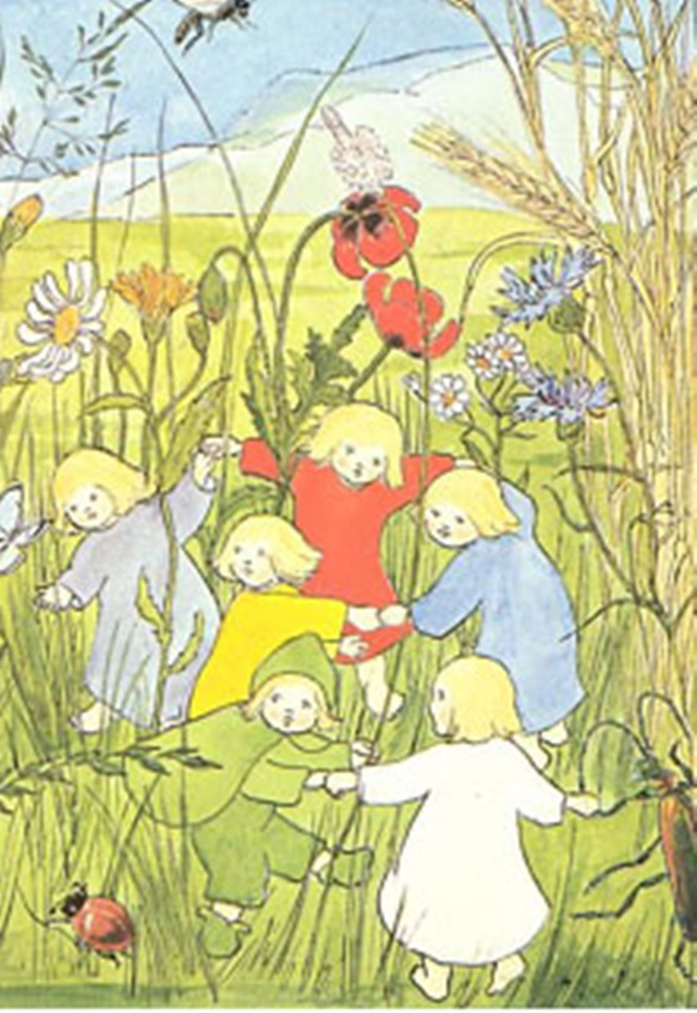 【425】ジビュレ・フォン・オルファース/<根っこの妖精たち(ねっこぼっこ)>ポストカード4枚セット