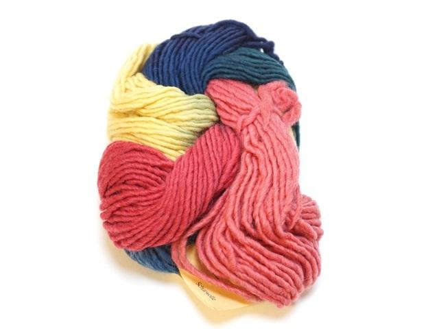 レインボー草木染め毛糸(50g レインボー)