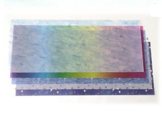 【524-A】ランタン用トランスパレントペーパー/5枚セット/20×50cm/レインボー/金の星/星空/3種類の5枚セット