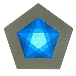 【605-A】五角形枠の手づくりキット/ブルー/グレー枠