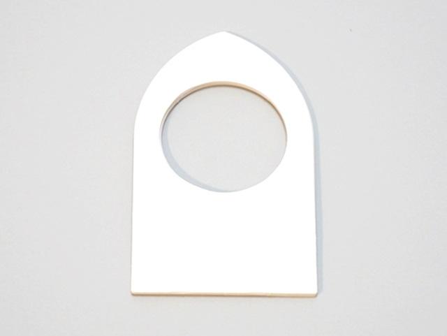 【172-D】ローズウィンドウ用枠/舟形(内径5cm)(2枚1セット)