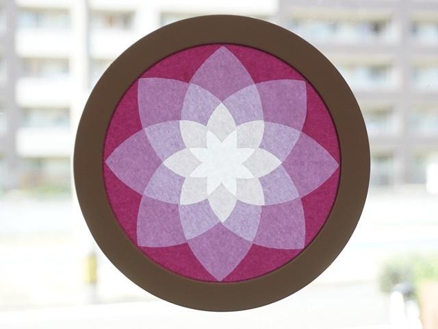 【604-B】ローズウィンドウ手作りキット/ピンク系 【メール便不可】