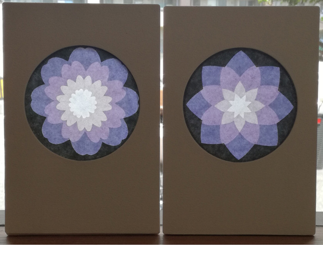 【980-A】ローズウィンドウ手作りキット・ハガキ枠(和)ホワイト枠