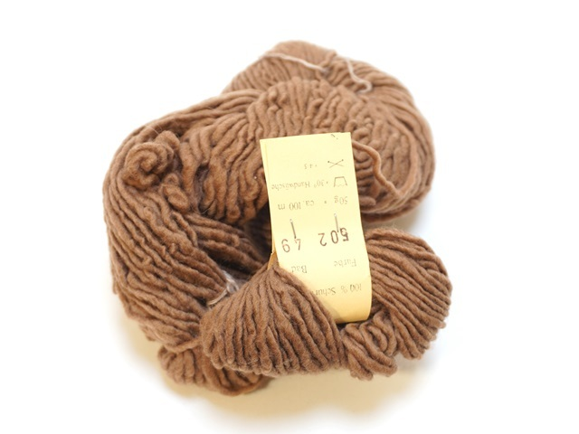 【129-B7S】草木染毛糸/ブラウン/まとめ買いでお得になります。