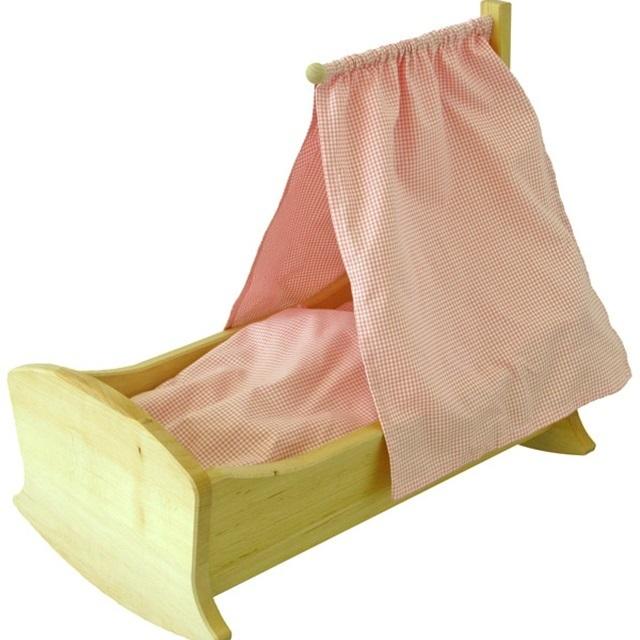 【034】SCHOLLNER ショルナー/人形用天蓋付きロッキングベッド/人形用ゆりかご