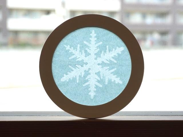 【616】ローズウィンドウ枠手づくりキット/雪の結晶