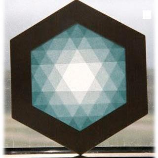 【608-A】六角形枠の手づくりキット/ブルー