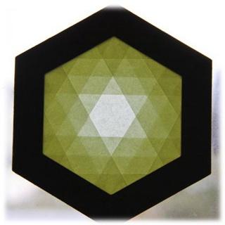 【608-B】六角形枠の手づくりキット/イエロー
