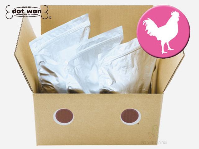 ドットわん ドッグフード 鶏ごはん お徳用3kg 箱