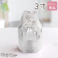 【ペット骨袋】「菊花 シルバー」 3寸(直径約9センチ)骨壷用カバー