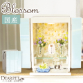 ペット仏壇 ブロッサム ホワイト×ホワイト フラワー 国産 ペット供養 ミニ仏壇