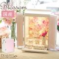 ペット仏壇 ブロッサム ホワイト×ピンク フラワー 国産 ペット供養 ミニ仏壇