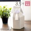 ペット骨袋 骨壷カバー 六角 白菊 3.5寸(直径約10.5cm) 【ネコポス対応】