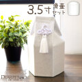 ペット骨壷 骨袋 セット 六角 白菊 ホワイト 3.5寸 直径約10.5cm