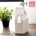 ペット骨袋 骨壷カバー 六角 白菊 4寸 (直径約12cm) 【送料無料】