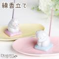 ペット仏具 祈りの香立て わんちゃん ねこちゃん 線香立て 陶器