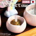 ペット仏具 ロウソク立て やわらぎの花 ピンク メモリアル キャンドル立て