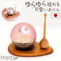 ペット仏具 おりん ももりん 国産 日本製 たまゆら ピンク 桜