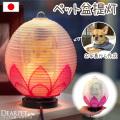 ペット供養 写真入り 盆提灯(ちょうちん) 蓮の花 お盆 ランタン 電気
