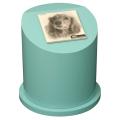 ペットのお墓ペットカロート丸型写真陶板モノクロ100