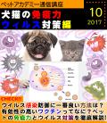 ペットアカデミー通信講座2017年10月号「犬猫の免疫力 ウイルス対策編」