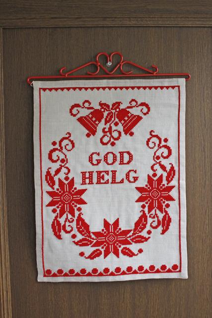 【クリスマス】北欧ヴィンテージ/刺繍の壁掛け/クリスマスモチーフ/SOLD OUT