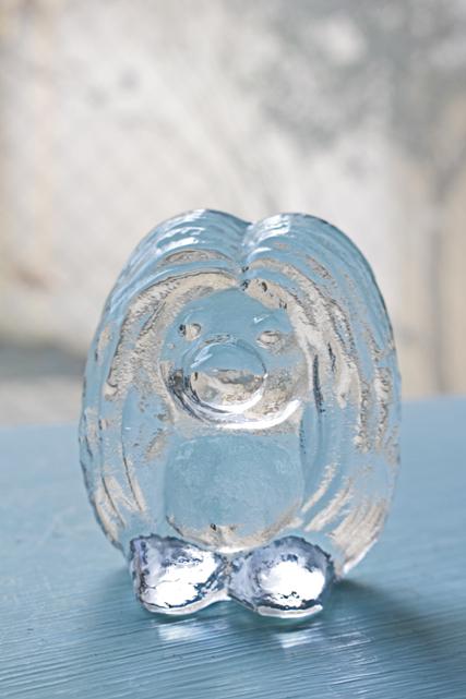 北欧ヴィンテージ/ガラスのオブジェ/森の妖精トロル